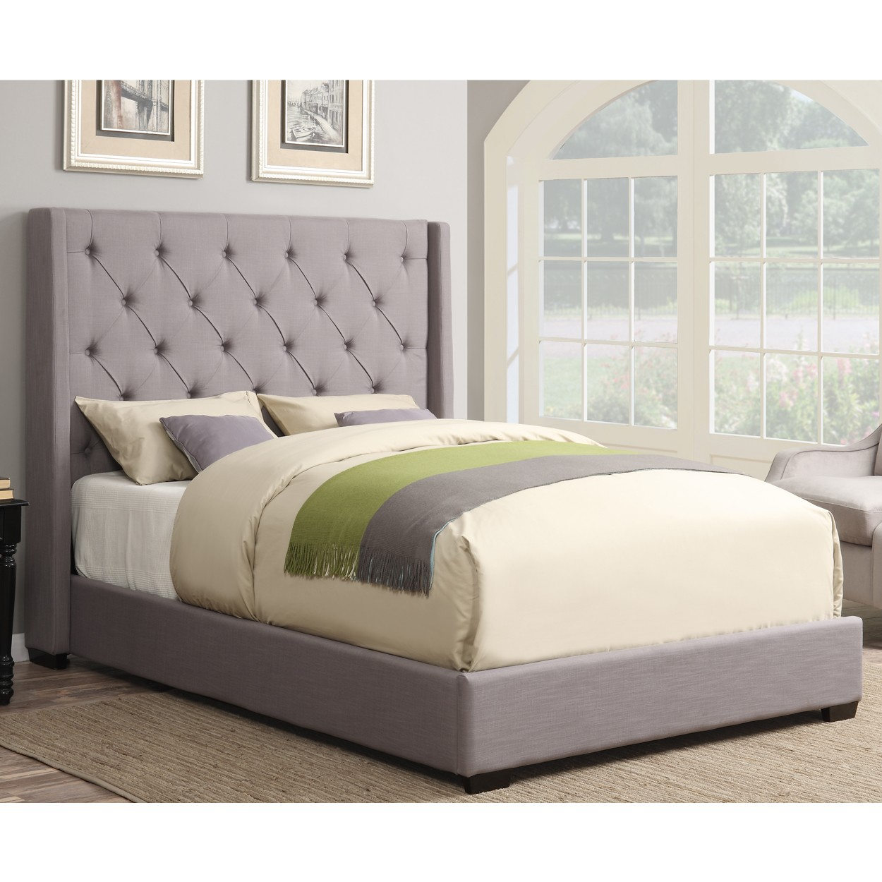 upholstered beds contemporary shelter fabric upholstered bed in ash LWCNAJB