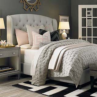 upholstered beds hgtv® home custom uph beds paris arched winged bed CNNVHXM