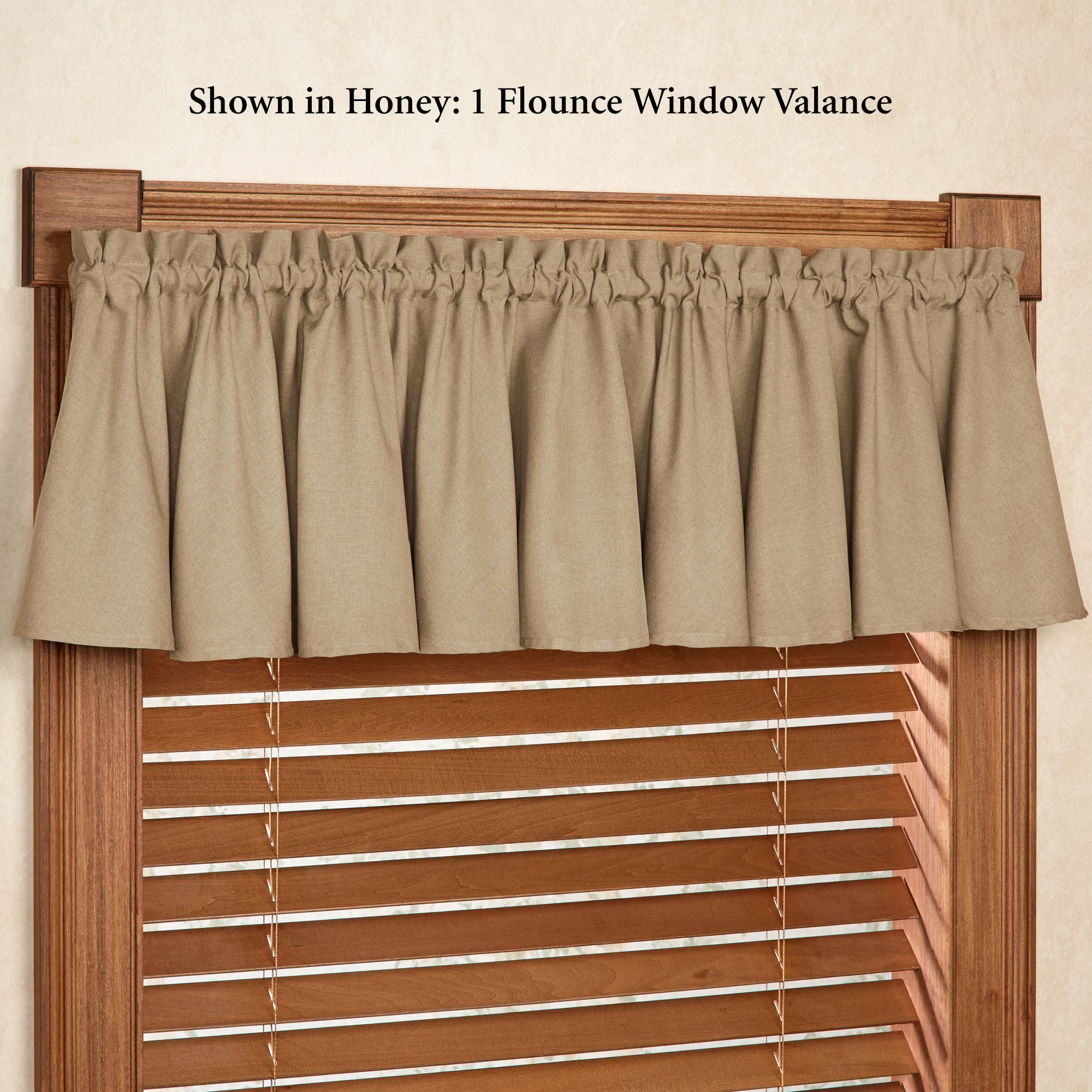 valance curtains glasgow solid color flounce window valance DWXIKUU