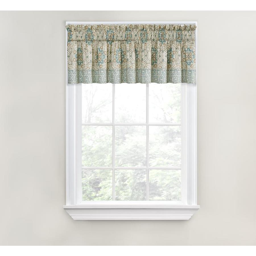 valance curtains waverly astrid 18-in spa cotton rod pocket valance CMTCXRZ