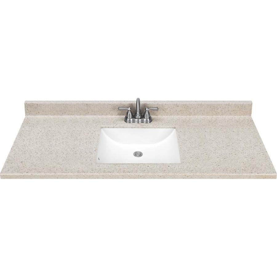 vanity tops dune solid surface integral bathroom vanity top (common: 49-in x 22- MJGCZFM