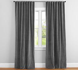 velvet curtains blue UELGCTI