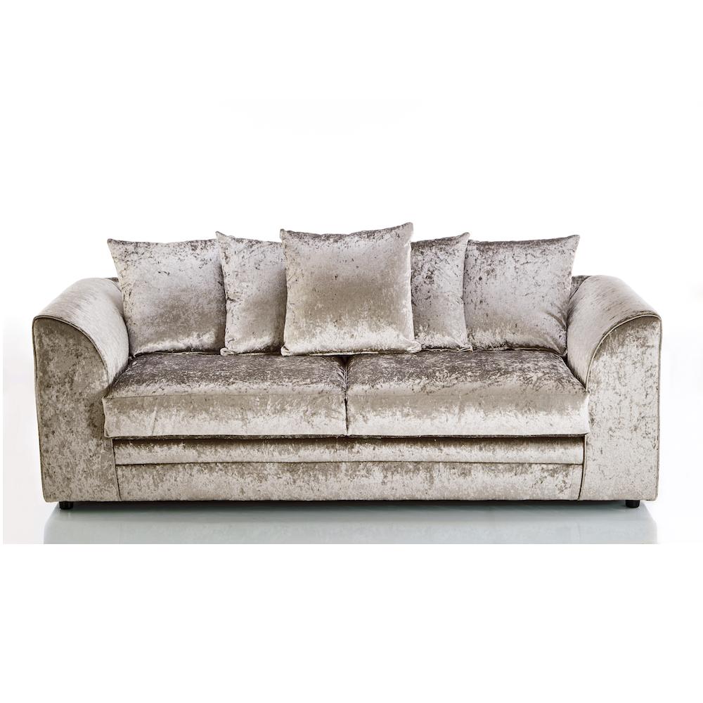 velvet sofa michigan crushed velvet 3 seater sofa mink, 3 seater sofas, crushed velvet DFGAXUO