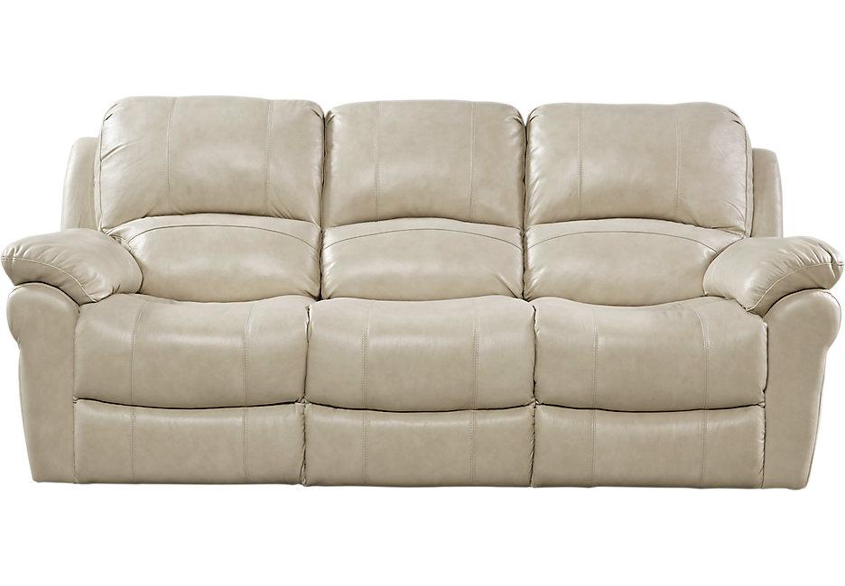 vercelli stone leather reclining sofa - reclining sofas (beige) XBSQAHV
