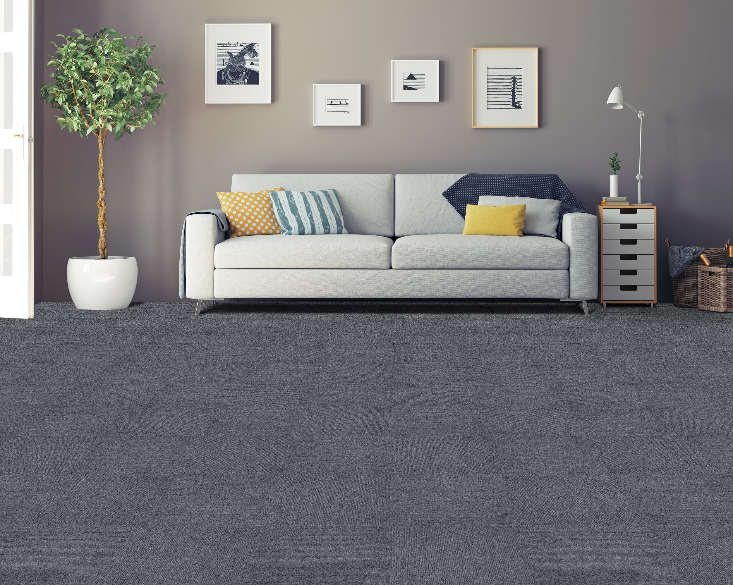 vesdura nexus carpet tiles nexus 12x12 carpet tiles - smoke / 12 x QGPXPKR