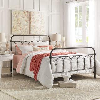 vintage bedroom furniture mercer casted knot metal bed by inspire q classic DSKZDBD