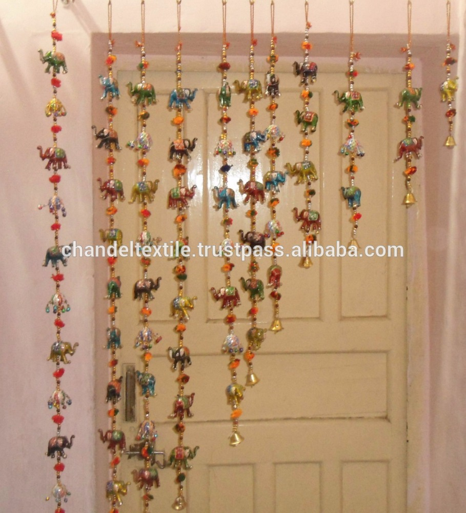vintage handmade wall hangings pair latkan decor beaded door decorative art  indian HJBSAPS
