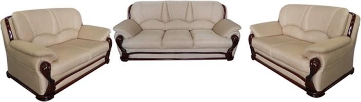 vintage ivoria fabric 3 + 2 + 2 mahogany sofa set BLLOGDB