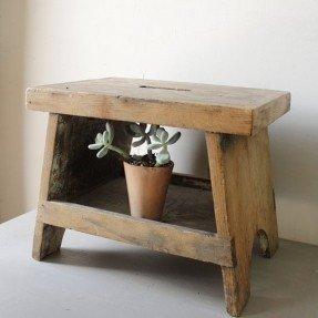 vintage wooden step stool DVDKTJZ