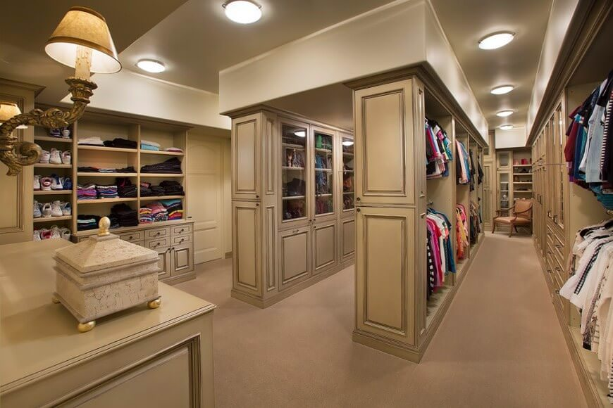walk in closets 55 fabulous unisex walk-in closet designs LQXMVIY