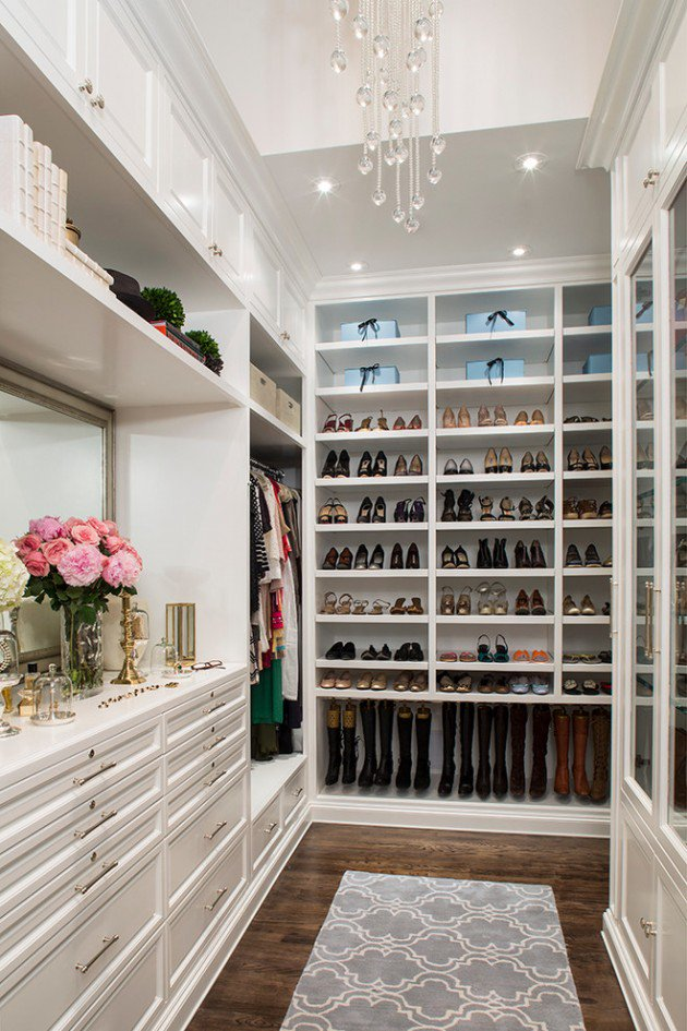 walkin closet 15 elegant luxury walk in closet ideas to store your clothes in that SRSLSUN
