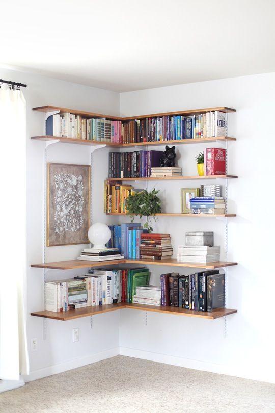 wall bookshelves red bedroom walls JPNIKXO