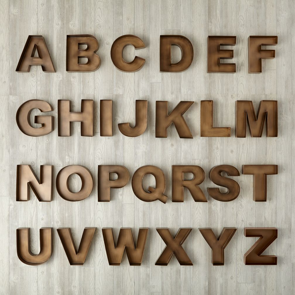 Large Hollow Metal Letters Adding A Tinch Of Beauty To Wall  Wall Letters  Goodworksfurniture