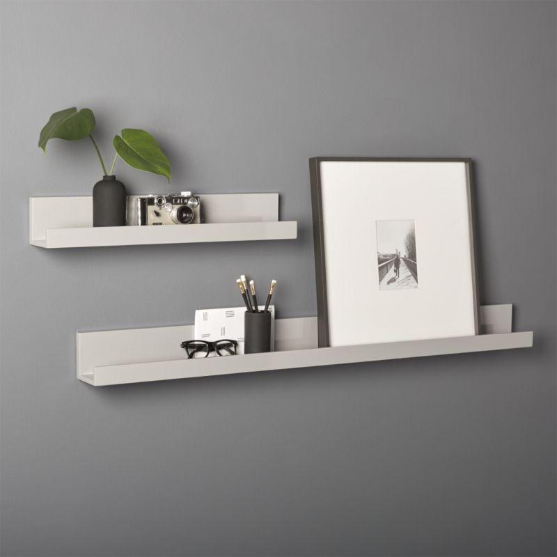 wall shelf piano grey wall shelves | cb2 NKNTQQH