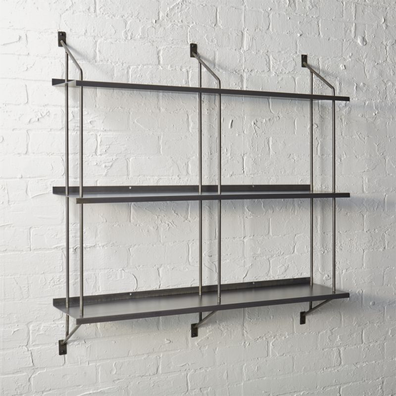 wall shelving stretch modular wall shelf | cb2 BVQNKNK