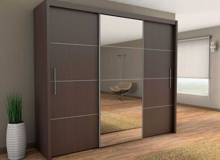 wardrobe designs brand new modern bedroom wardrobe sliding door with mirror inova in wenge PWVZIOO