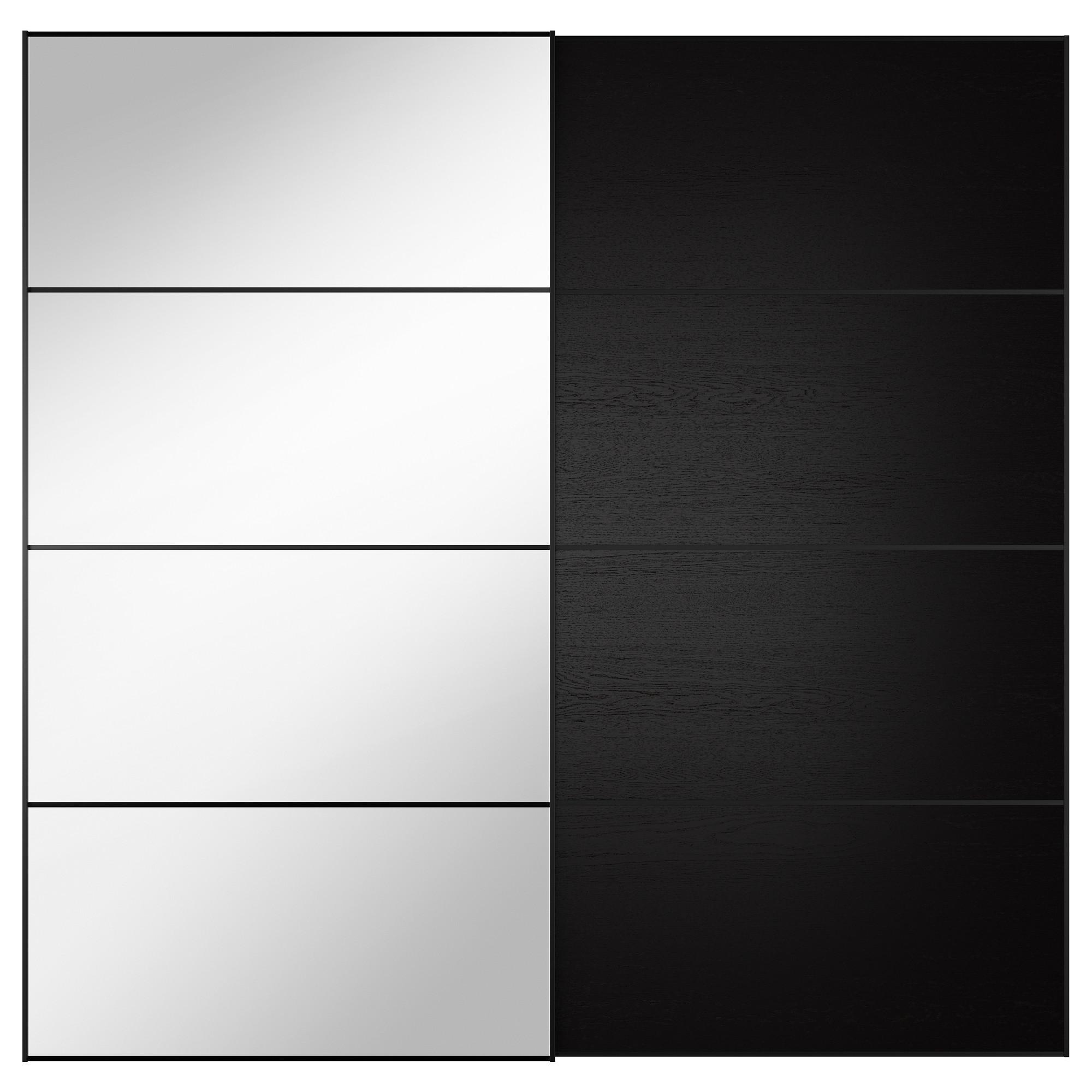 wardrobe sliding doors ikea auli/ilseng pair of sliding doors WRZKUEA
