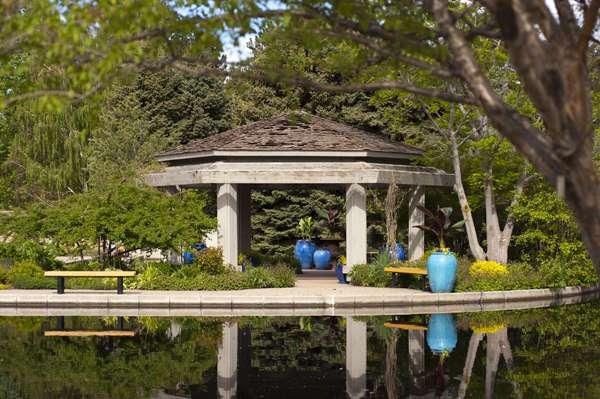 water garden gazebo LAHJXFW