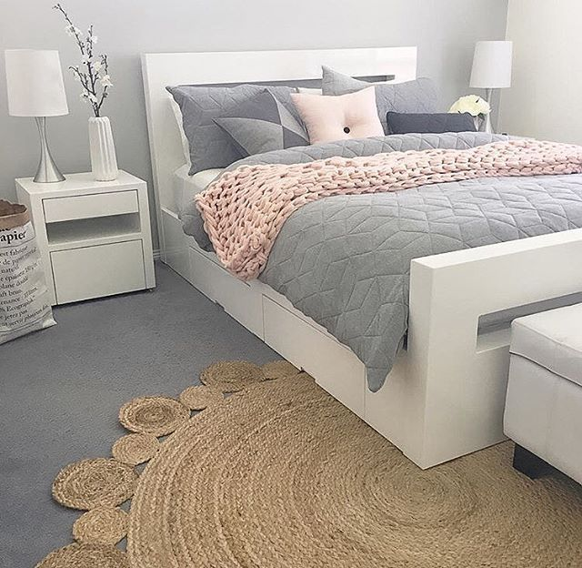 white bedroom furniture bedroom inspo ✨ the ever so perfect bedroom belonging to love the rug! HBUZANR