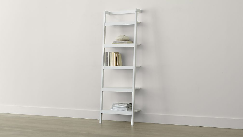 white bookshelves sawyer white leaning 24.5 KPFPNTY