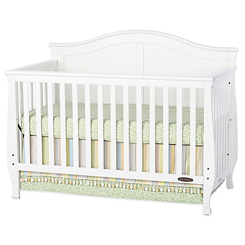 white cribs child craftu0026trade; camden 4-in-1 convertible crib in white RVPZDHV