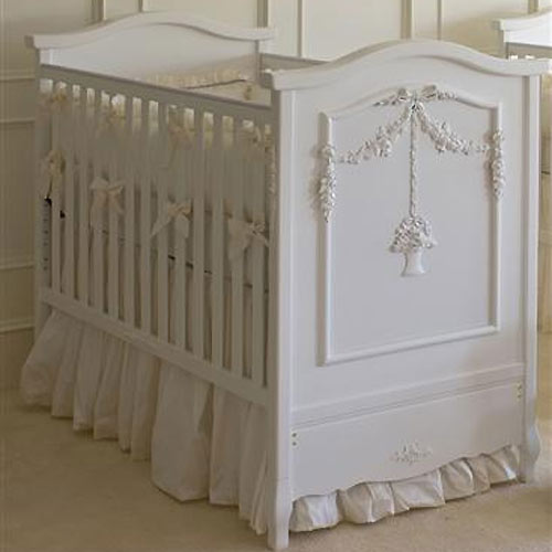 white cribs floral bouquet crib in white KQTIOIH