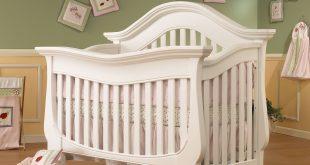 white cribs lusso nursery century collection 4 in 1 crib w/mini rail in french white UCMTTCD