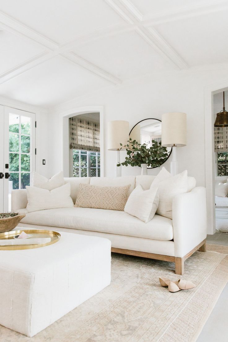 white living room erin fetherstonu0027s california home neutral family room. ivory living room,  white ... UKDKHYZ