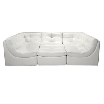 white sectional sofa cloud modular sectional - white IAGLRLZ