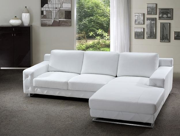 white sectional sofa modern sectional sofa in white leather modern-living-room VBGXOGM