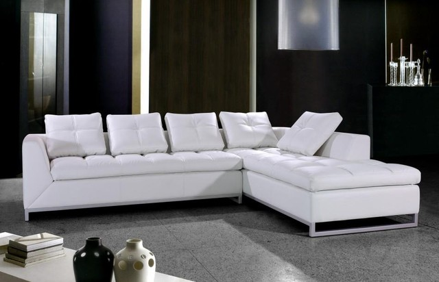 white sectional sofa white leather sectional sofa with chrome legs modern-living-room MSLNURZ