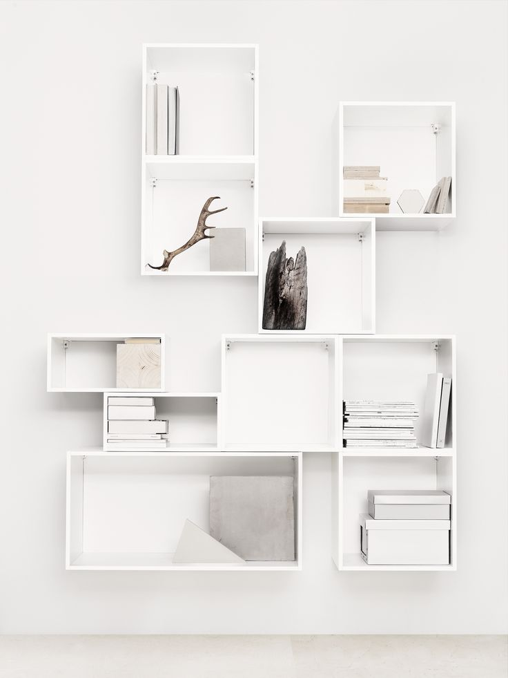 white shelf easy interior update: box storage. white shelvesikea ... SAHTXAE