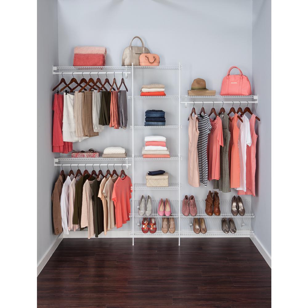 white ventilated wire closet organizer kit JKBFAMA