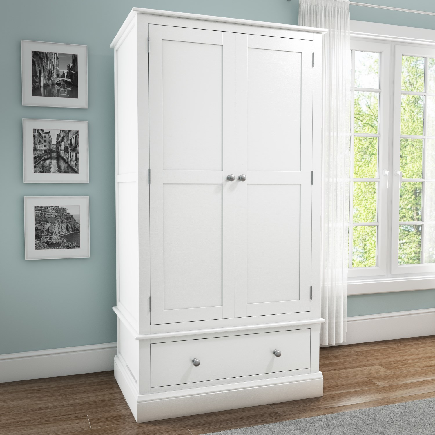 white wardrobes harper white solid wood 2 door 1 drawer wardrobe QYTFGVT