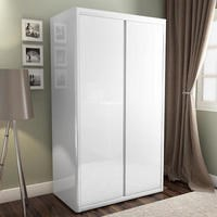 white wardrobes lexi white high gloss double wardrobe with gloss doors YBEWZDB
