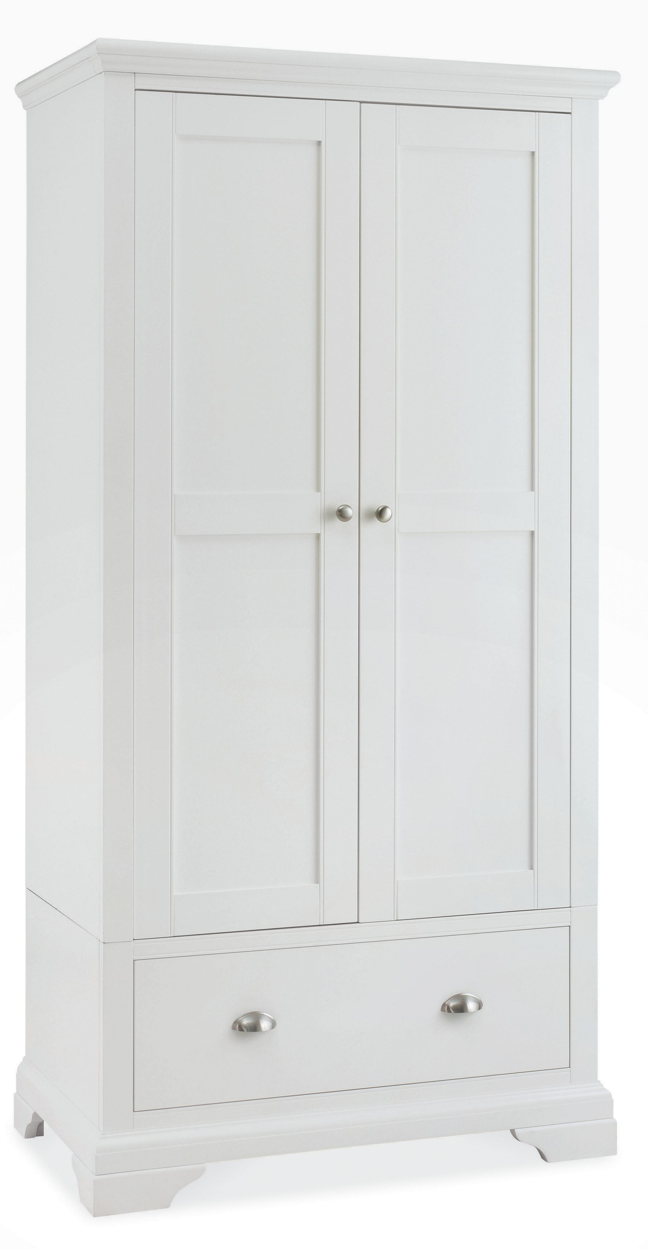 White Wardrobes Linea Etienne Double Wardrobe With Drawer House Of Fraser Sbwmkay