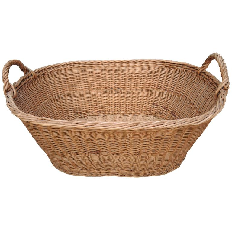 wicker laundry basket vintage french provincial wicker woven laundry basket 1 GISDQYY
