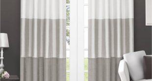 window drapes exclusive home chateau striped faux silk grommet top window curtain panels  - VNQTXAP