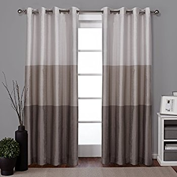 window drapes exclusive home curtains chateau striped faux silk grommet top window curtain  panel PGSZEUF