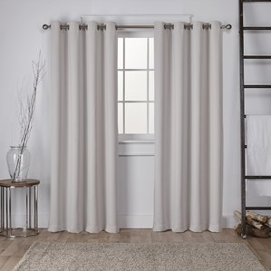 window drapes tamara solid room darkening grommet curtain panels (set of 2) CNODVKB