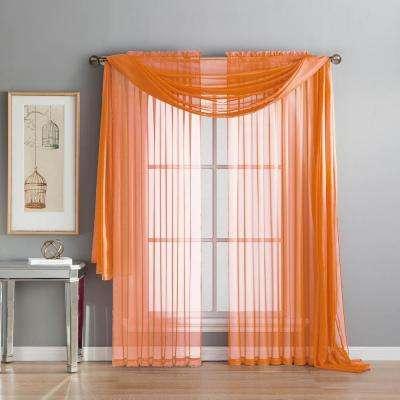 window scarves l curtain scarf in orange CZLTAAP