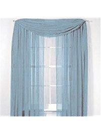 window scarves luxurydiscounts beautiful elegant solid slate blue sheer scarf valance  topper 37 SEKRKKI