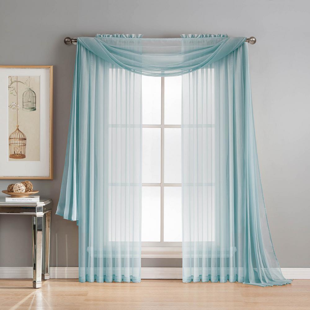 window scarves window elements diamond sheer voile 56 in. w x 216 in. l curtain GNYNCLS