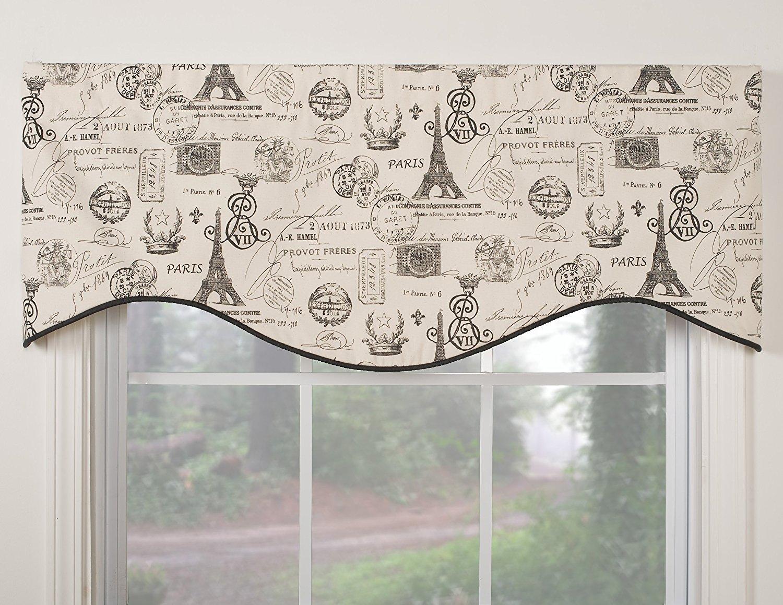 window valances amazon.com: victor mill paris shaped valance: home u0026 kitchen ZNMFWDA