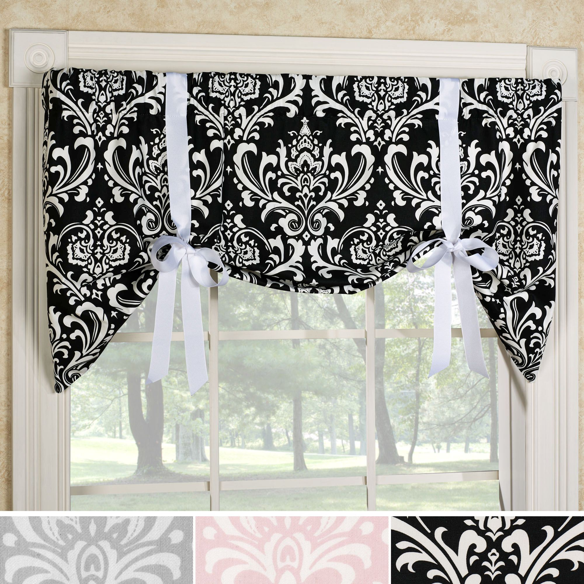 kitchen patterns curtains treatments to bay and of valances lovely ideas tar curtain window for modern windows awesome treatment valance back post