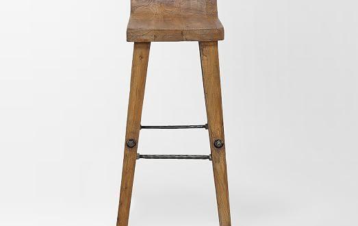 wood bar stools detailed view ... TCMUPIH