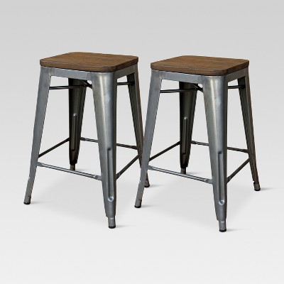 wood bar stools hampden industrial wood top 24 LKGMOEL
