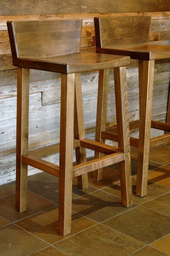 wood bar stools wood bar stool — upholster with a nice clean fabric UJJAICQ