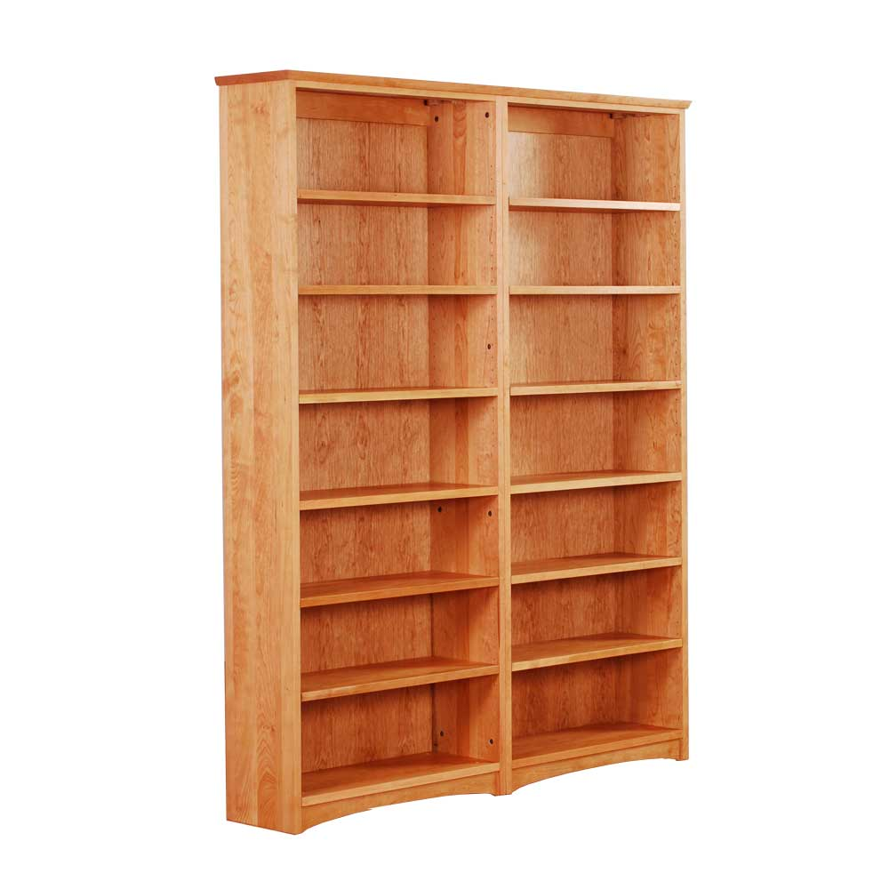 wood bookcases double bookcase in solid cherry JZQSKRB