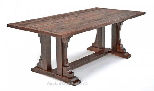 wood dining table repurposed oak dining table ... OIXNAXC